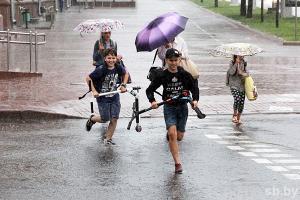 Кратковременные дожди равным образом грозы придут во Беларусь на понедельник
